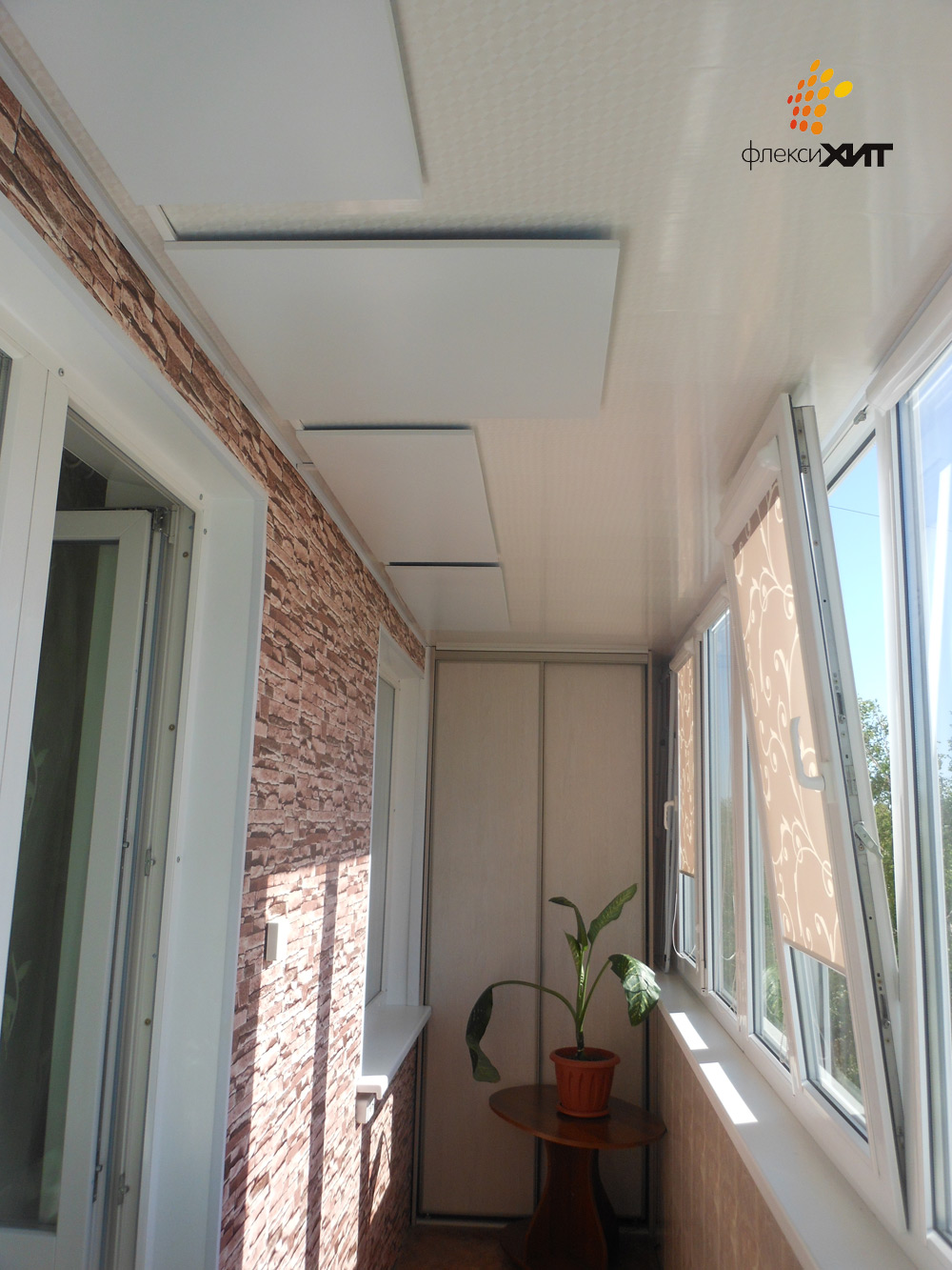 Инфракрасные потолочные обогреватели на лоджии.