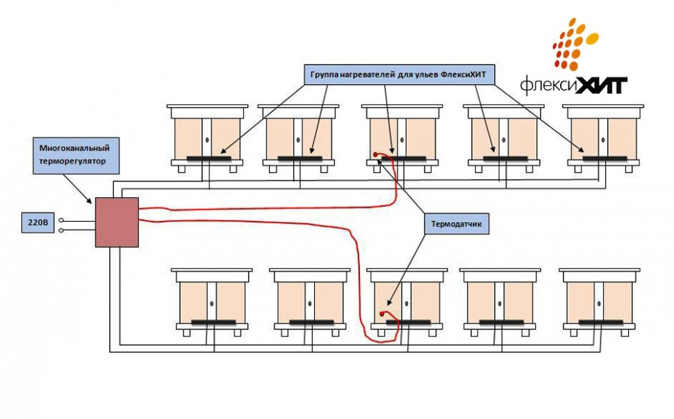 Схема подключения ульев к